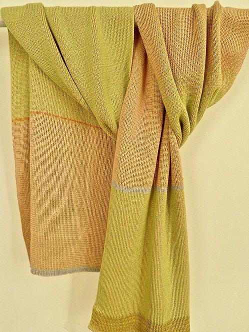 basic sjaal pastel in zachtroze- licht groen