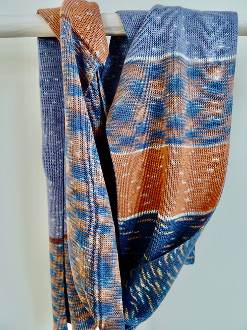 multi pattern ikat sjaal