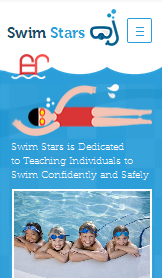 Sport & Recreation website templates – Swimming Lessons