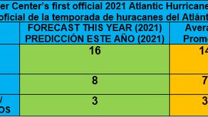 First 2021 Atlantic hurricane season forecast / Primer pronóstico de la temporada de huracanes