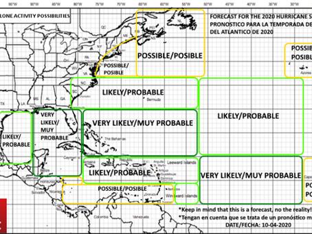 First 2020 Atlantic Hurricane Season forecast / Primer pronóstico de la temporada de huracanes