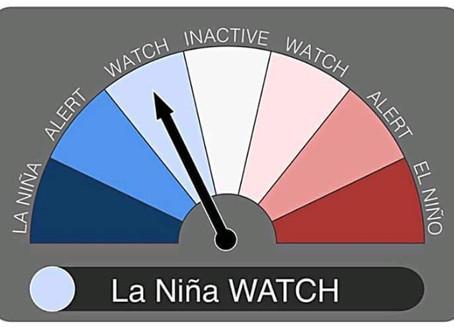 A La Niña watch has been issued! ¡Se ha emitido una vigilancia de La Niña!