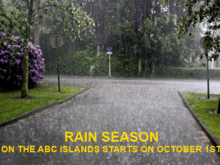 THE RAINY SEASON STARTS OVER THE ABC ISLANDS! ¡INICIA LA TEMPORADA DE LLUVIAS SOBRE LAS ISLAS ABC!