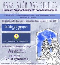 Para Além das Selfies: Grupo de Autoconhecimento com Adolescentes