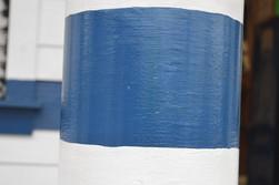 Blue White Pole