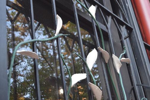 Decorative Iron Leaves