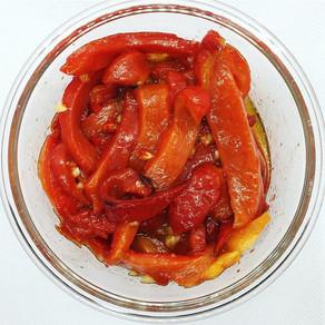Recette : poivrons grillés et marinées à l'huile d'olive