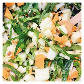 Recette : Salade Pomme Granny Smith (sucré salé)
