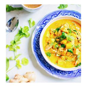 Recette : Soupe de courge Butternuts et gingembre rôti
