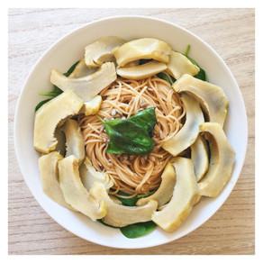 Recette : pâtes aux artichauts et basilic