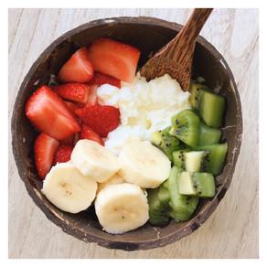 Recette : le Frozen Yogurt topping fruits frais 🍓🥝🍌