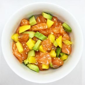 Recette : tartare de saumon avocat mangue