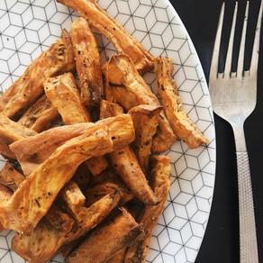 Recette : Frites de patate douce au four