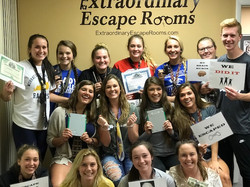12-27-17Graves County Ladies Eagles - Swindled Escape Room