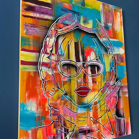 Kylie  80 x 100 cm   Acrylic and spray paint