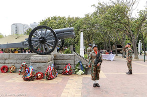 RFC JOA Gunner Officer Pays Respects at the Annual Western Cape Gunners'' Memorial Service