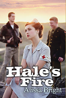 Hale's Fire by Alissa Bright, 2nd book in the Hale's Storm Series about World War 2.  Best-selling Young Adult Historical Fiction