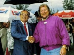 Monty mit Michail Gorbatschow