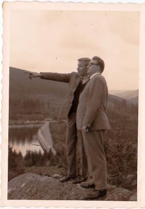 Monty und Bruder Rolf auf dem Feldberg/Schwarzwald 1965