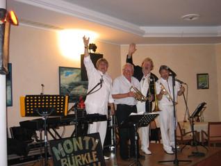 Monty, Jan und Jo mit Horst