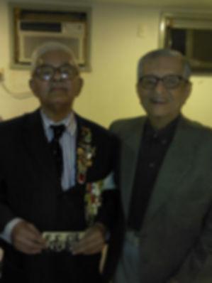 Veteranos da FEB José Candido da Silva e Newton Cidade no lançamento do documentário Que falta que me fez