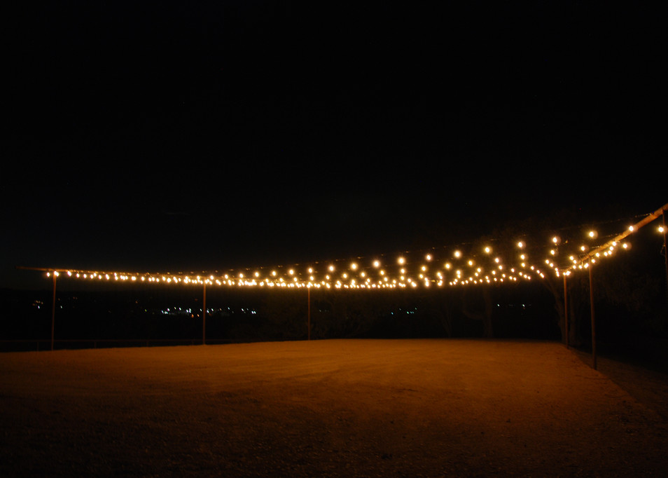Outdoor Event Site at Night