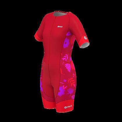Female PERFORMANCE Trisuit Red Garden
