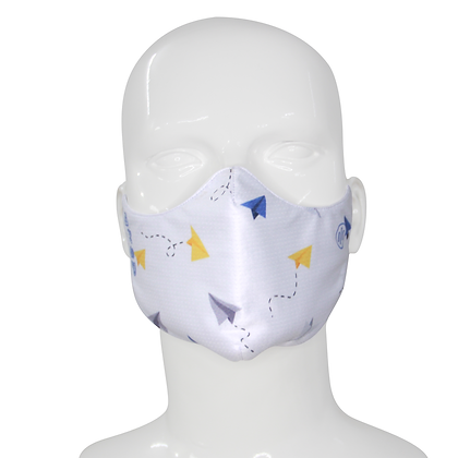 3D Mask Paper Planes White