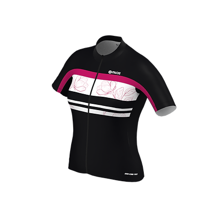 Cycling Jersey Female Black Blossom