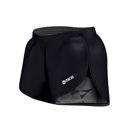 Women's All in One Running Black Shorts with Prisma Leggins