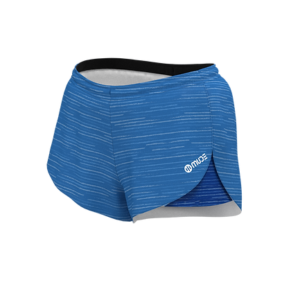 Women's All in One Running Trigrade Blue Shorts