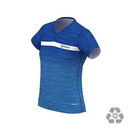 Female Running T-shirt Trigrade Blue