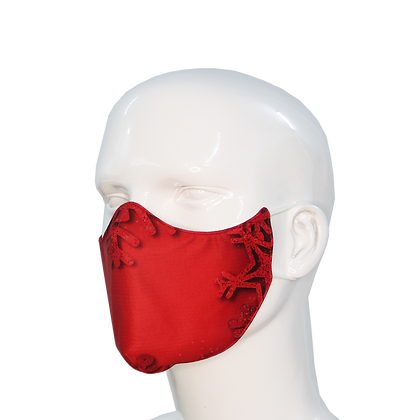 3D Mask Christmas Red