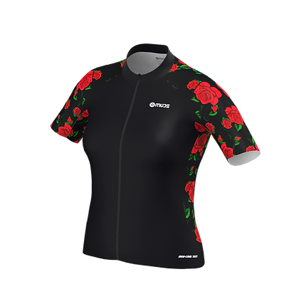 Cycling Jersey Female Red Roses