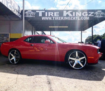 "Dodge Challenger on 24"" Cavallo wheels"