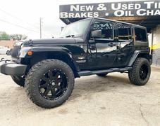 "Jeep Wrangler on 20"" BBY wheels"