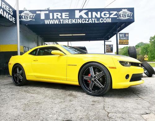 "Chevrolet Camaro on 24"" Rucci wheels"