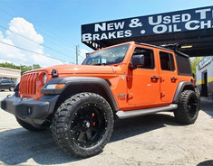 "Jeep Wrangler on 20"" BBY Off-Road wheels"