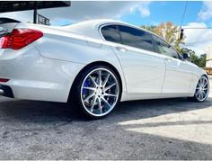 """BMW 750 on 22"""" Azad Wheels"""