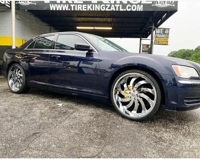 """Chrysler 300 on 24"""" Gima wheels"""
