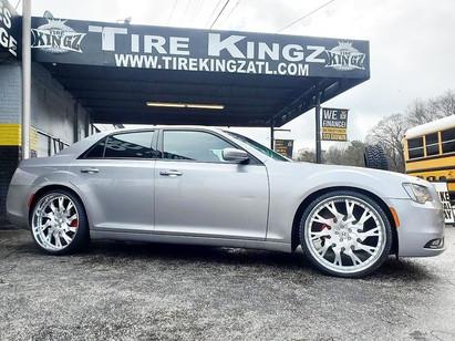 "Chrysler 300 on 24"" Rucci wheels"