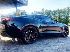 "Chevrolet Camaro on 22"" Ravetti wheels"