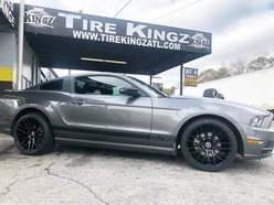 """Ford Mustang on 20"""" Spec-1 wheels"""