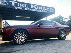 """Dodge Challenger on 22"""" Azara wheels"""