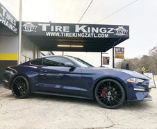 """Ford Mustang on 22"""" Spec-1 wheels"""