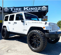 "Jeep Wrangler on 22"" BBY Off-Road wheels"