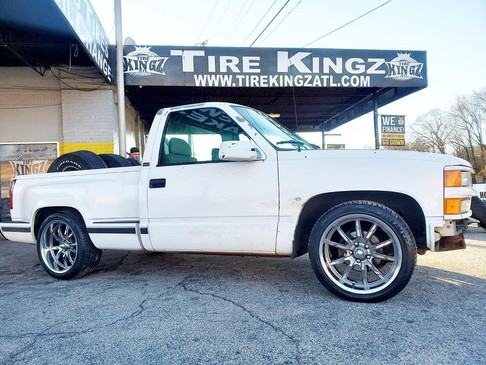 "Chevrolet Silverado on 20"" Ridler wheels"
