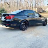 "BMW on 22"" STR Racing wheels"