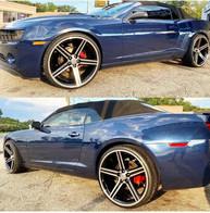 "Chevrolet Camaro on 24"" Iroc wheels"