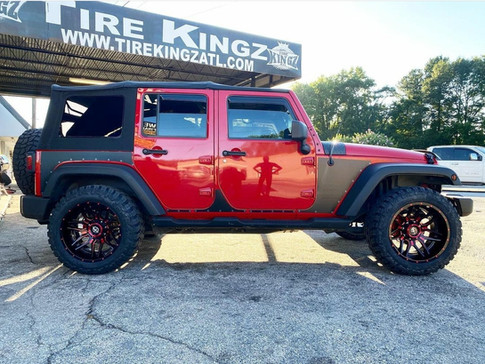 "Jeep Wrangler on 20"" XF Off-Road wheels"
